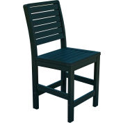 Highwood® Synthetic Wood Weatherly Counter Height Dining Chair With No Arms, Charleston Green