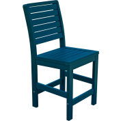 Highwood® Synthetic Wood Weatherly Counter Height Dining Chair With No Arms, Nantucket Blue