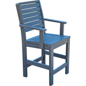 Highwood Synthetic Wood Weatherly Counter Height Dining Chair With Arms, Coastal Teak by Dining Room Chairs