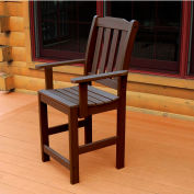 Highwood® Synthetic Wood Dining Chair With Arms, Weathered Acorn