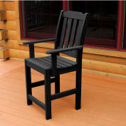 Highwood® Synthetic Wood Dining Chair With Arms, Black