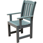 Highwood® Synthetic Wood Dining Chair With Arms, Coastal Teak