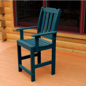 Highwood® Synthetic Wood Dining Chair With Arms, Nantucket Blue