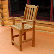 Highwood® Synthetic Wood Dining Chair With Arms, Toffee