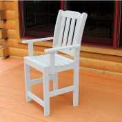Highwood® Synthetic Wood Dining Chair With Arms, White