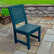 Highwood® Synthetic Wood Weatherly Dining Chair With No Arms, Nantucket Blue