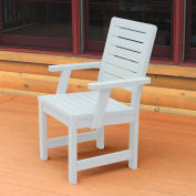 Highwood® Synthetic Wood Weatherly Dining Chair With Arms, White