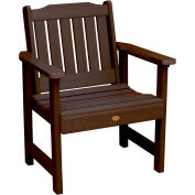 highwood® Lehigh Outdoor Garden Chair, Eco Friendly Synthetic Wood In Weathered Acorn Color