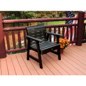 highwood® Weatherly Outdoor Garden Chair, Eco Friendly Synthetic Wood In Black