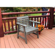 highwood® Weatherly Outdoor Garden Chair, Eco Friendly Synthetic Wood In Coastal Teak