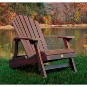 highwood® Hamilton Folding Adirondack Chair, Adult - Weathered Acorn
