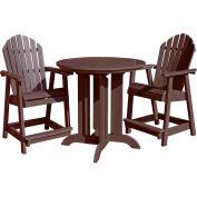 highwood® Hamilton 3pc Round Counter Dining Set, Weathered Acorn