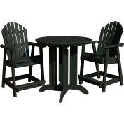 highwood® Hamilton 3pc Round Counter Dining Set, Charleston Green