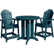 highwood® Hamilton 3pc Round Counter Dining Set, Nantucket Blue