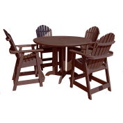 highwood® Hamilton 5pc Round Counter Dining Set, Weathered Acorn