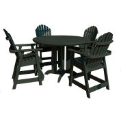 highwood® Hamilton 5pc Round Counter Dining Set, Charleston Green