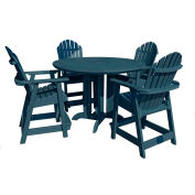 highwood® Hamilton 5pc Round Counter Dining Set, Nantucket Blue