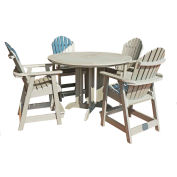 highwood® Hamilton 5pc Round Counter Dining Set, Whitewash
