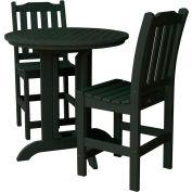 highwood® Lehigh 3pc Round Counter Dining Set, Charleston Green