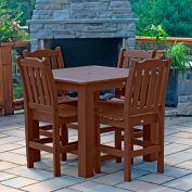 Highwood® Synthetic Wood 5-pc Counter Height Dining Set, 42 X 42, Weathered Acorn