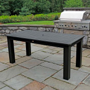 Highwood® Synthetic Wood 36 X 72 Rectangular Counter Height Table, Black