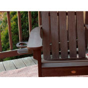 highwood® Adirondack Chair Screw On Cup Holder Attachment, Weathered Acorn