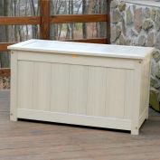 """Highwood® Deck & Patio Storage Box AD-DBXL1-WAE- 44""""L x 24-15/16""""W x 25-13/16""""H Whitewash"""