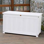 "Highwood® Deck & Patio Storage Box AD-DBXL1-WHE - 44""L x 24-15/16""W x 25-13/16""H, White"