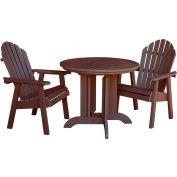 highwood® Hamilton 3pc Round Dining Set, Weathered Acorn