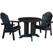 highwood® Hamilton 3pc Round Dining Set, Black