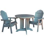 highwood® Hamilton 3pc Round Dining Set, Coastal Teak