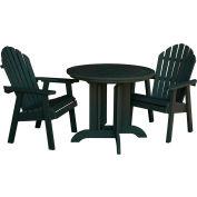 highwood® Hamilton 3pc Round Dining Set, Charleston Green