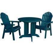 highwood® Hamilton 3pc Round Dining Set, Nantucket Blue