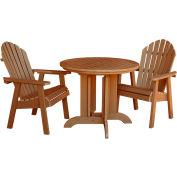 highwood® Hamilton 3pc Round Dining Set, Toffee