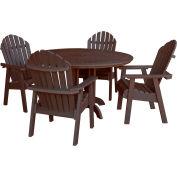 highwood® Hamilton 5pc Round Dining Set, Weathered Acorn