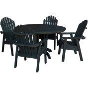 highwood® Hamilton 5pc Round Dining Set, Black
