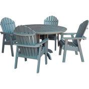 highwood® Hamilton 5pc Round Dining Set, Coastal Teak