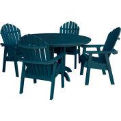 highwood® Hamilton 5pc Round Dining Set, Nantucket Blue