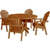 highwood® Hamilton 5pc Round Dining Set, Toffee