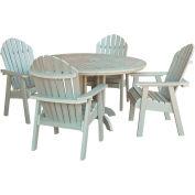 highwood® Hamilton 5pc Round Dining Set, Whitewash
