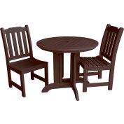 highwood® Lehigh 3pc Round Dining Set, Weathered Acorn