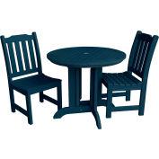 highwood® Lehigh 3pc Round Dining Set, Nantucket Blue