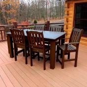 Highwood® Synthetic Wood 7 pc Set, 36 X 72, Weathered Acorn
