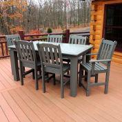 Highwood® Synthetic Wood 7 pc Set, 36 X 72, Coastal Teak