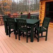 Highwood® Synthetic Wood 7 pc Set, 36 X 72, Charleston Green