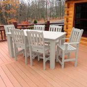 Highwood® Synthetic Wood 7 pc Set, 36 X 72, Whitewash