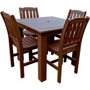 Highwood® Synthetic Wood 5-pc Dining Set, 42 X 42, Weathered Acorn