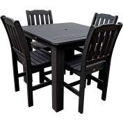 Highwood® Synthetic Wood 5-pc Dining Set, 42 X 42, Black