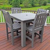 Highwood® Synthetic Wood 5-pc Dining Set, 42 X 42, Coastal Teak