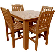 Highwood® Synthetic Wood 5-pc Dining Set, 42 X 42, Toffee
